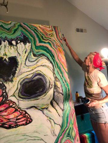 Artist Ana Oborny Painting